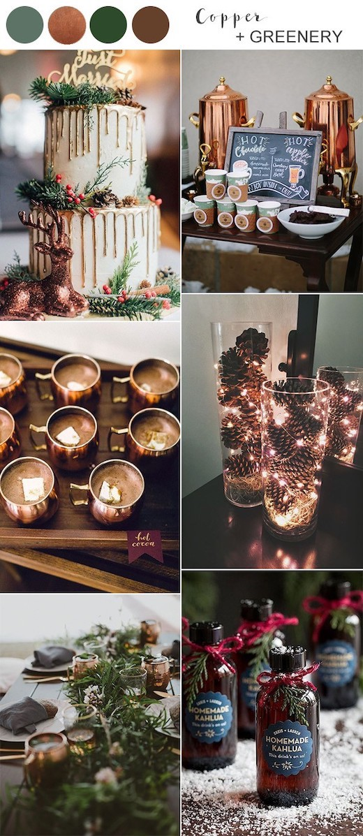 copper-and-greenery-winter-wedding-colors