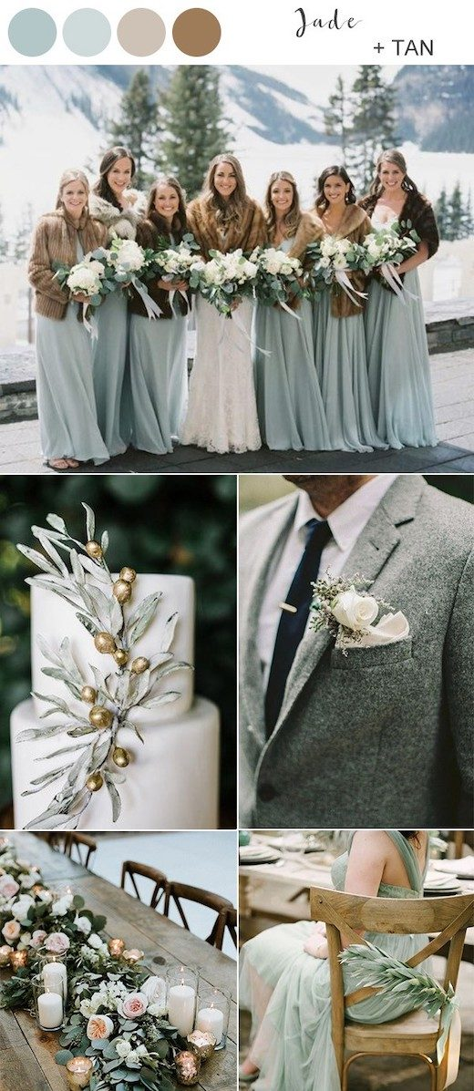 jade-green-and-tan-winter-wedding-color-ideas