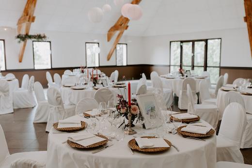 Décoration de table mariage au Château de Cop Choux