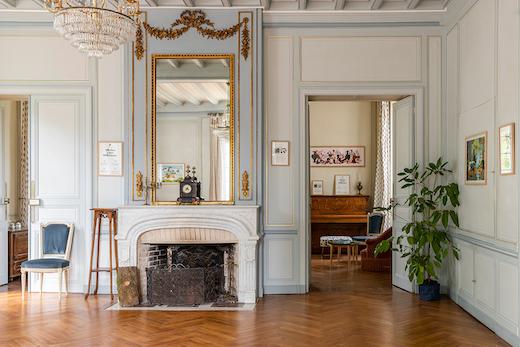Salon bleu du Château de Cop Choux